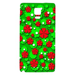 Xmas Flowers Galaxy Note 4 Back Case by Valentinaart