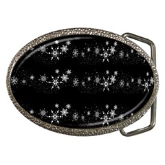 Black Elegant  Xmas Design Belt Buckles by Valentinaart
