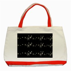 Black Elegant  Xmas Design Classic Tote Bag (red) by Valentinaart