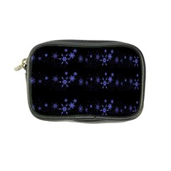 Xmas Elegant Blue Snowflakes Coin Purse by Valentinaart