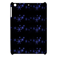 Xmas Elegant Blue Snowflakes Apple Ipad Mini Hardshell Case by Valentinaart