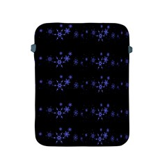 Xmas Elegant Blue Snowflakes Apple Ipad 2/3/4 Protective Soft Cases by Valentinaart