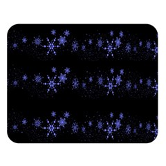 Xmas Elegant Blue Snowflakes Double Sided Flano Blanket (large)  by Valentinaart
