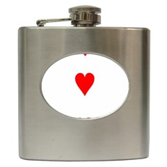 Cart Heart 03 Tre Cuori Hip Flask (6 Oz)