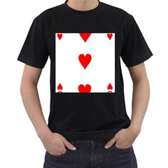 Cart Heart 03 Tre Cuori Men s T Shirt (black) (two Sided) by AnjaniArt
