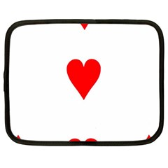 Cart Heart 03 Tre Cuori Netbook Case (large) by AnjaniArt