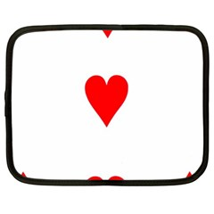 Cart Heart 03 Tre Cuori Netbook Case (xl)  by AnjaniArt
