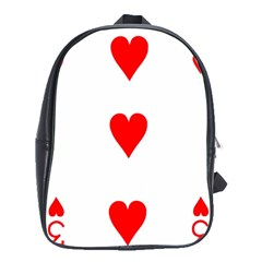 Cart Heart 03 Tre Cuori School Bags(large)  by AnjaniArt