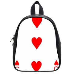Cart Heart 03 Tre Cuori School Bags (small)  by AnjaniArt