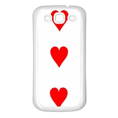 Cart Heart 03 Tre Cuori Samsung Galaxy S3 Back Case (white) by AnjaniArt