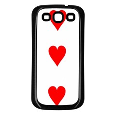 Cart Heart 03 Tre Cuori Samsung Galaxy S3 Back Case (black) by AnjaniArt
