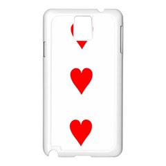 Cart Heart 03 Tre Cuori Samsung Galaxy Note 3 N9005 Case (white) by AnjaniArt
