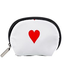 Cart Heart 03 Tre Cuori Accessory Pouches (small)  by AnjaniArt
