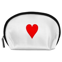 Cart Heart 03 Tre Cuori Accessory Pouches (large)  by AnjaniArt