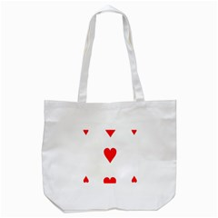 Cart Heart 03 Tre Cuori Tote Bag (white) by AnjaniArt