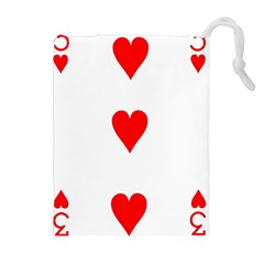 Cart Heart 03 Tre Cuori Drawstring Pouches (extra Large) by AnjaniArt