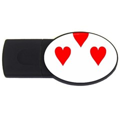 Cart Heart 07 Sette Cuori Usb Flash Drive Oval (2 Gb)