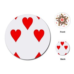 Cart Heart 07 Sette Cuori Playing Cards (round)  by AnjaniArt