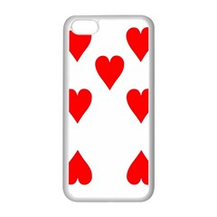 Cart Heart 07 Sette Cuori Apple Iphone 5c Seamless Case (white)