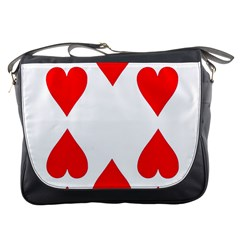 Cart Heart 10 Dieci Cuori Messenger Bags by AnjaniArt