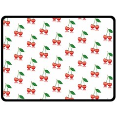 Cerry Fruite Red Fleece Blanket (large)  by AnjaniArt
