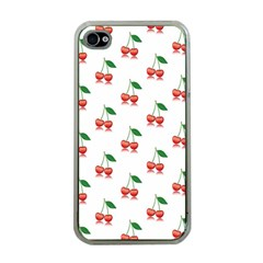 Cerry Fruite Red Apple Iphone 4 Case (clear)
