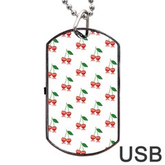Cerry Fruite Red Dog Tag Usb Flash (two Sides)