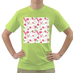 Eat Pattern Tomato Cerry Friute Green T Shirt by AnjaniArt