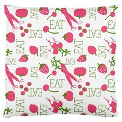 Eat Pattern Tomato Cerry Friute Standard Flano Cushion Case (one Side) by AnjaniArt