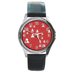 Future Learn Round Metal Watch