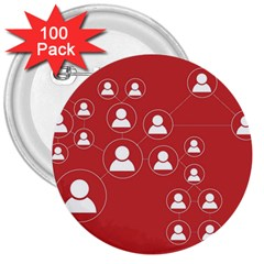 Future Learn 3  Buttons (100 Pack)