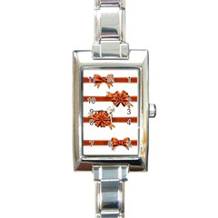 Gift Ribbons Rectangle Italian Charm Watch