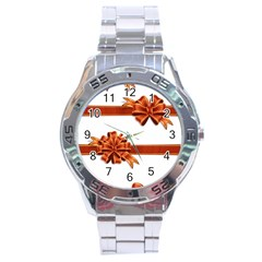 Gift Ribbons Stainless Steel Analogue Watch