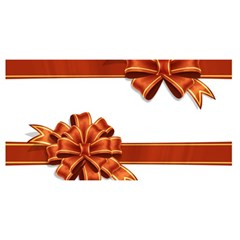 Gift Ribbons You Are Invited 3d Greeting Card (8x4)
