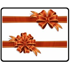 Gift Ribbons Double Sided Fleece Blanket (medium)  by AnjaniArt