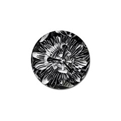 Black And White Passion Flower Passiflora  Golf Ball Marker (10 Pack) by yoursparklingshop