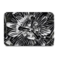 Black And White Passion Flower Passiflora  Plate Mats by yoursparklingshop