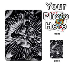 Black And White Passion Flower Passiflora  Multi Purpose Cards (rectangle)  by yoursparklingshop