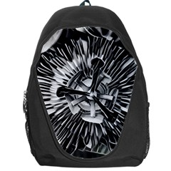 Black And White Passion Flower Passiflora  Backpack Bag by yoursparklingshop