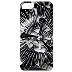 Black And White Passion Flower Passiflora  Apple Iphone 5 Classic Hardshell Case by yoursparklingshop
