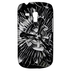 Black And White Passion Flower Passiflora  Samsung Galaxy S3 Mini I8190 Hardshell Case by yoursparklingshop