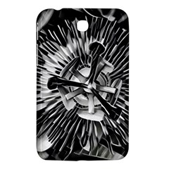 Black And White Passion Flower Passiflora  Samsung Galaxy Tab 3 (7 ) P3200 Hardshell Case  by yoursparklingshop
