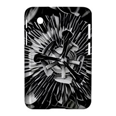 Black And White Passion Flower Passiflora  Samsung Galaxy Tab 2 (7 ) P3100 Hardshell Case  by yoursparklingshop