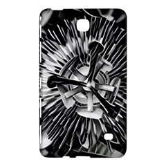 Black And White Passion Flower Passiflora  Samsung Galaxy Tab 4 (7 ) Hardshell Case  by yoursparklingshop