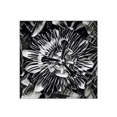 Black And White Passion Flower Passiflora  Satin Bandana Scarf by yoursparklingshop