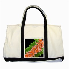 Decorative Flowers Two Tone Tote Bag by Valentinaart