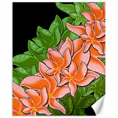 Decorative Flowers Canvas 16  X 20   by Valentinaart