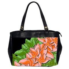 Decorative Flowers Office Handbags (2 Sides)  by Valentinaart