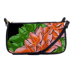 Decorative Flowers Shoulder Clutch Bags
