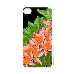 Decorative Flowers Apple Iphone 4 Case (white)